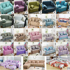 Pure Color / Flower Pattern Couch Sofa Towel Sofa Slipcover For 1 2 3 4 seater