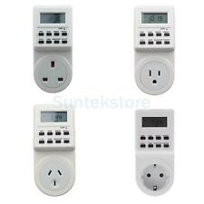 Digital Electronic LCD Programmable Plug-in Timer 12/24 Hour Switch Socket Tool