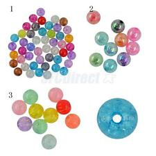 50/10pcs Mixed Colour Smooth Transparent Acrylic Round Ball Spacer Beads DIY
