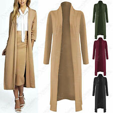 NEW LADIES LONG SLEEVE DUSTER JACKET WOMENS COAT OPEN FRONT MIDI LOOK CAPE TOP