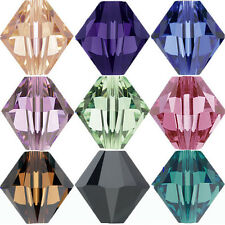 50/100Pcs Czech Faceted Glass Crystal Loose Bicone Spacer Beads for DIY Jewelry