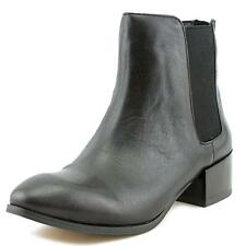 Steve Madden Jodpher Women  Round Toe Leather Black Ankle Boot NWOB