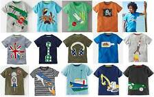 Mini Boden Boys Applique top t-shirt cotton 1-12 years new short sleeve tee car