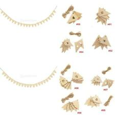 Wooden MDF Shapes Triangle/Christmas Tree Bunting Craft Embellishment Decoration