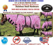 Horse Bug Mosquito Fly Sheet Summer Spring Airflow Mesh UV Neck 73142