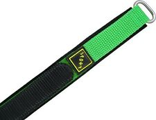 Wrist watch bands Bracelet with Velcro SPORT Nylon-green 16 mm 18mm