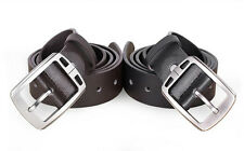 HOT Men Metal Buckle Leather Waistband Vintage Classic Pin Buckle Belts Cheap