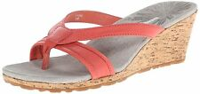 PATAGONIA Solimar WEDGE Cork HIGH HEEL Slip-On SLIDE SANDALS Shoes WOMENS sz NEW