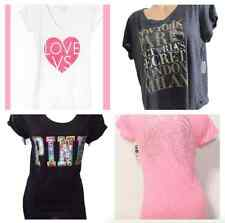 Victoria Secret PINK Supermodel Angel Wings Tee Bling Sequin T-Shirt: XS S M L