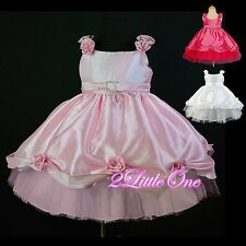 Wedding Flower Girls Formal Occasion Dress Pageant Party Bonnet Size 9m-8 FG009