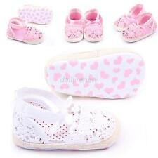 Princess Girl Crib Shoes Baby Infant Soft Boot Sole Crochet Knit Shoes Prewalker