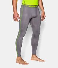 Men Under Armour UA HeatGear Graphite Armour Printed Compress Leggings Pants New
