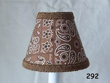 Cowboy Sheriff Lamp Shade, Brown Chandelier Shade or Night Light for Kid's Room
