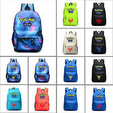 Pokemon Go Team Valor Instinct Mystic Men Shoulder Bag Travel Backpack Rucksack