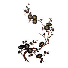Flower Embroidery Iron On Applique Patch Plum Blossom Embroidery