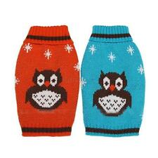 Pet Dog Puppy Cat Sweater Warm Clothes Owl Pattern Winter Jumper Knitted Apparel
