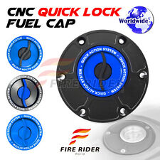 FRW BK/BU CNC Quick Lock Fuel Cap For Triumph Daytona T595 All Years 97 98 99