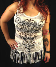 Angels & Diamonds Native Boho Women's Sexy Lace Tank Top Cute Transparent