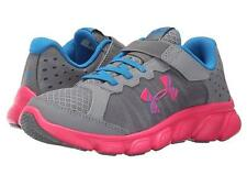 NEW Girls Youth UNDER ARMOUR MICRO G ASSERT 1266385 Gray Running Sneakers Shoes
