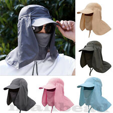Summer Outdoor Sport Fishing Hiking Hat UV Protection Face Neck Flap Sun Cap New