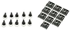 FAIRING FASTENERS QUICK RELEASE BLACK - 14mm - PACK OF 10 - DZUS TYPE