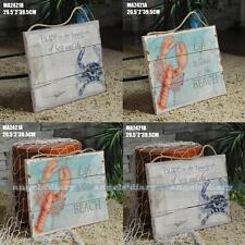 Nautical Decor Wood Sign Shabby & Chic Wall Art Picture Home Bar Lobster Plaque