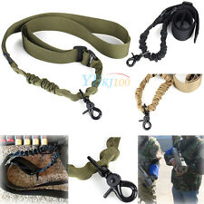 Nylon Adjustable Tactical Single Point Sling Strap For Bungee Rifle Gun Hunting