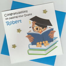 Personalised Handmade Graduation/Exam Congratulations Card - Wise Owl 1