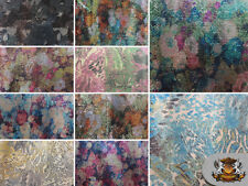 """Sequin Multicolor Print Fabrics / 54"""" Wide / Sold by the yard"""