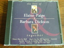 .The Best Of Elaine Paige & Barbara Dickson  Together CD