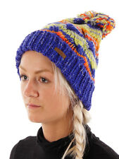Protest Beanie Hat Pompom hat Caley blau thick Pattern warm