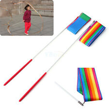 4M Gym Dance Polyester Ribbon Rhythmic Art Gymnastic Streamer Twirling Rod Stick