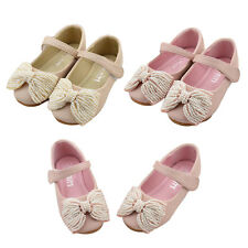 TT Sweet Kids Toddler Girls Children Shoes Bow-Knot Beads Princess Party Shoes
