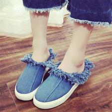 Womens Canvas Fashion Sneakers Slide Denim Sandals Casual Oxfords Shoes New