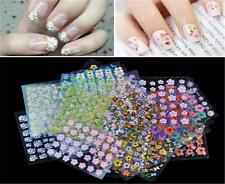 10/50Sheets Nail Art Transfer Stickers 3D Design Manicure Tip Decal DecorationPI