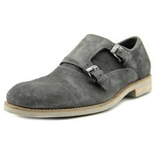 John Varvatos Sid Eva Double Monk Men  Round Toe Suede Gray Loafer
