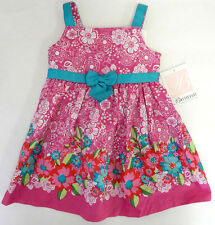 Bonnie Baby 24 Months Pink Floral Sleeveless Summer Dress Baby Girl Clothes