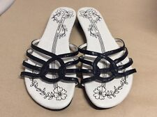 "NEW Slip On Back Leather Sandals By HUSH PUPPIES "" Jardin"" Size 6 Uk RRP £40"