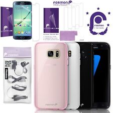 Fosmon Galaxy S7 Slim Case Screen Protector Wall Car USB Cable Charger Bundle