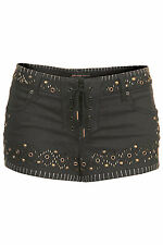 BNWT Topshop Studded Denim Shorts by Kate Moss, RRP £50, Sizes 8 &12