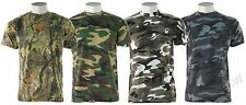 Camouflage Camo T Shirt Army - Reinforced Neck / Military / Hunting / Fishing