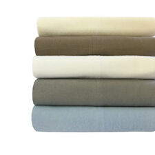 King Size Heavy Weight 100% Cotton Flannel Sheet Sets Soft Yet Durable Warm Feel