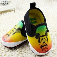 Cute Baby Boy MICKEY MOUSE Cotton Canvas Summer Pre Walker Shoes