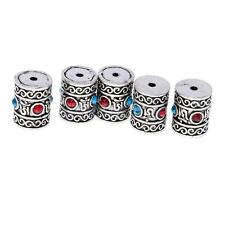 Bulk 5pcs Silver Carved Tube Beads Pendants Jewelry Findings 13x15mm 16 x 20mm