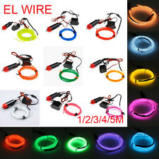 1M/2M/3M/5M Flexible Neon Light Glow EL Wire Rope Tube Car Dance Party Christmas