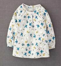 Mini Boden girls grey cotton bird print top new age baby - 3-4 years