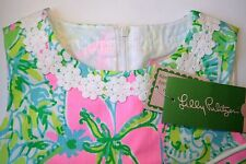 New Lilly Pulitzer LITTLE LILLY SHIFT DRESS 8 Multi Coconut Jungle Ctn Dobby NWT
