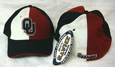 NCAA  OU Oklahoma Sooners Red,White,& Black Fitted Zephyr Sports Cap