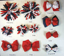Washington Nationals Themed Hair Bows Korkers Classic Bottle Caps U-Pick