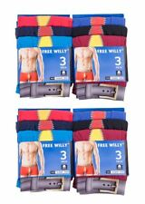 N147 MENS 3prs NOVELTY FUN RUDE FREE WILLY BOXER SHORTS UNDERWEAR TRUNKS S-XL